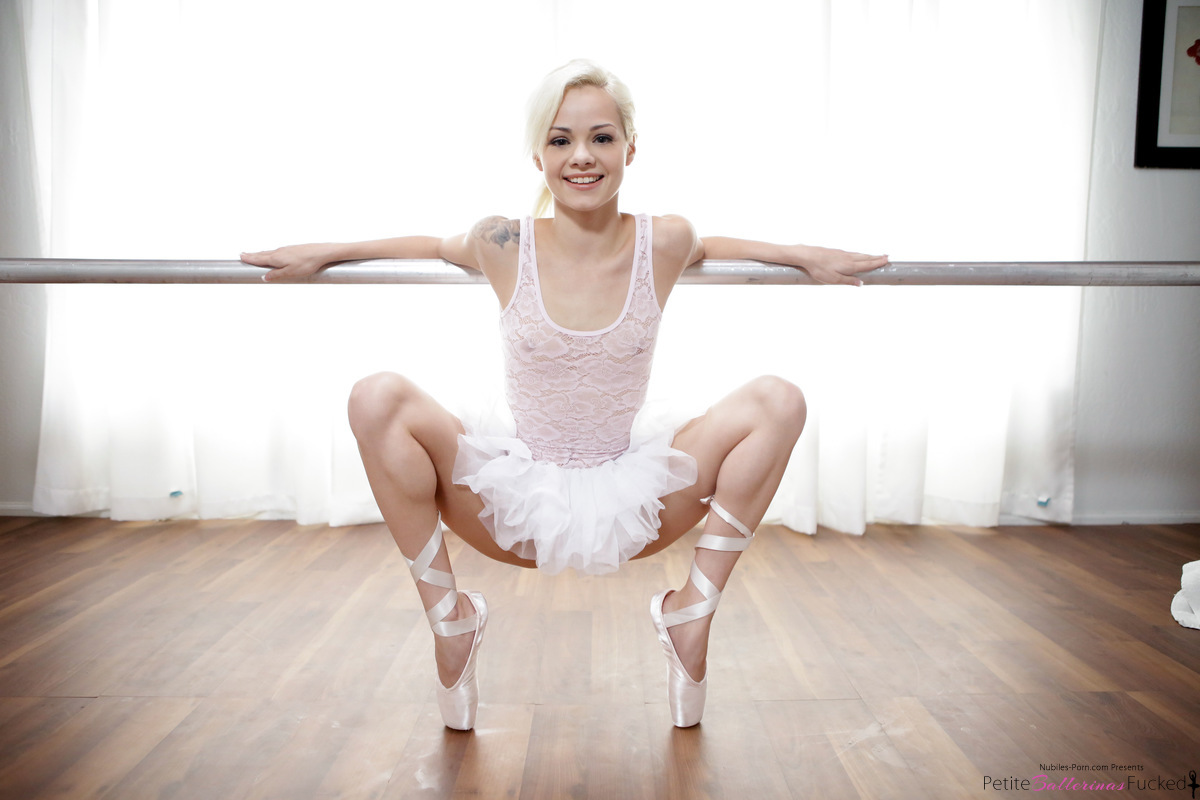 Perfect young and small ballerina dancer girl