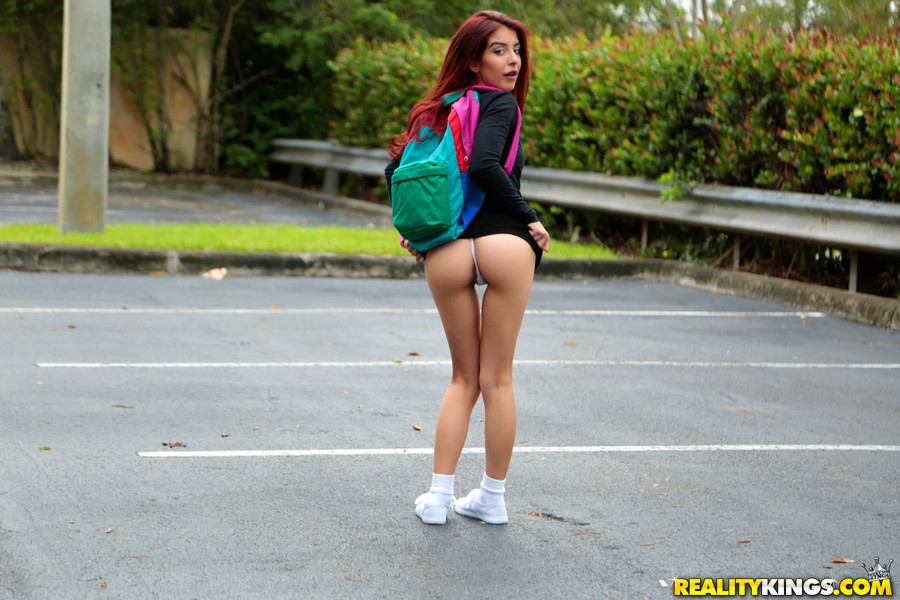 Perfect and cute young latina teen schoolgirl