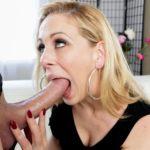 Sexy petite blonde sucks dick and poses in full hd pics