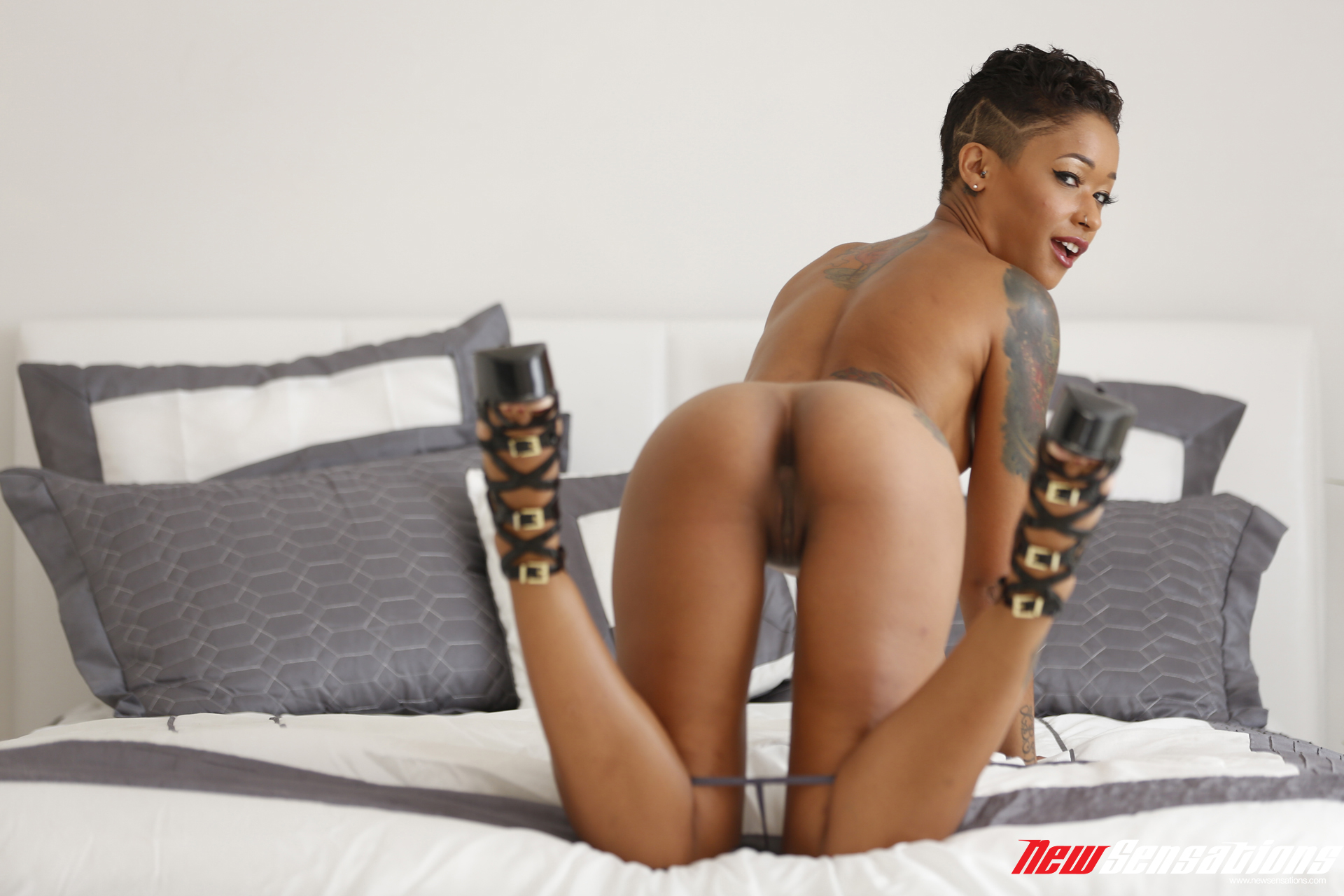Skinny Ebony Ass Licking