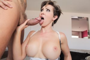 Perfect milf with short hair and big tits sex