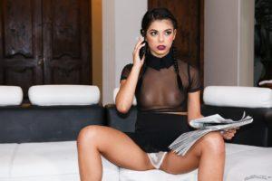 Sexy brunette wearing lingerie